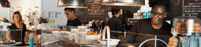 Servers in coffee shop