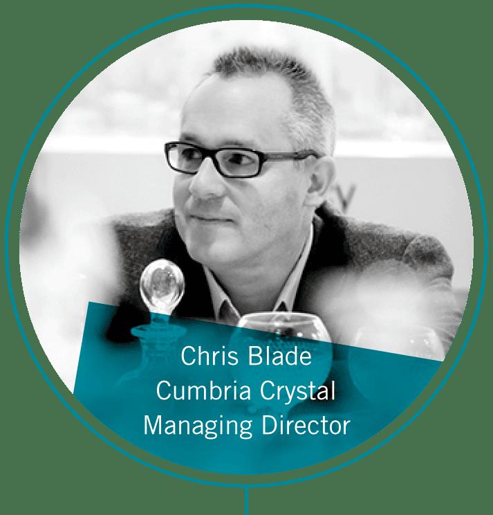 Chris Blade, Managing Director at Cumbria Crystal