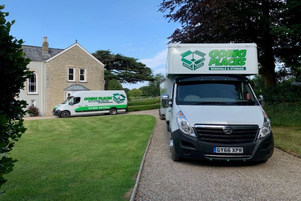 Going Places Removals removal vans in driveway of home