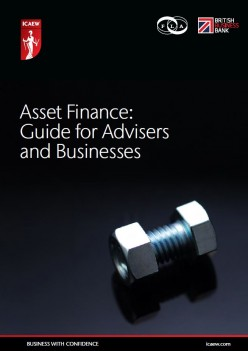 Asset Finance guide for advisors and businesses report cover
