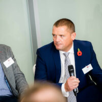 A man speaking at the BBB Vital Ingredient for Growth event