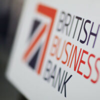 The British Business Bank logo on a piece of paper