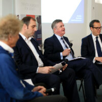 A panel of men speaking at the BBB Vital Ingredient for Growth event