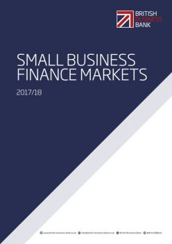 The cover of the 2017/18 Small Business Finance Markets report