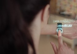 Female using smart watch