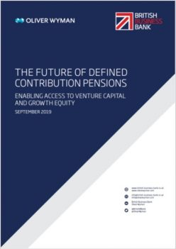 The cover of The Future of Defined Contribution Pensions report
