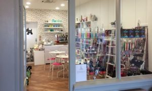 Bow Wows at No.7 store with jewelry and beauty products in the window