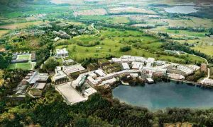 An aerial view of Alderley Science Park, the location of YProtech, a business who received a Northern Powerhouse Investment Fund