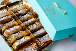 A box of cannolis from Casa Cannoli