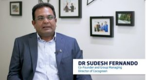 A screenshot from a video of Dr Sudesh Fernando, the Co-Founder of Cocogreen
