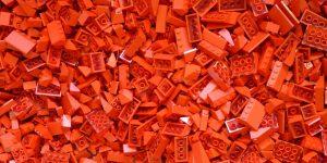 Red logo bricks
