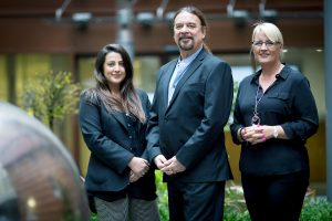 2 women and a man from Tough Tech, a business who received a loan from the Northern Powerhouse Investment Fund