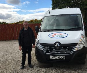 Des-Carson-Limited-delivery-driver-and-van