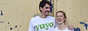 Employees from Yuyo in Yuyo branded t-shirts who received a Start Up Loan