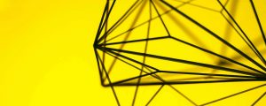 Black and yellow sculpture from Zeal Creative who received a Start up Loan