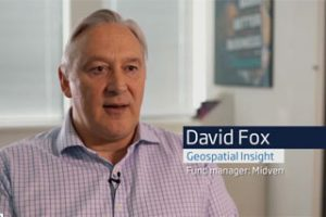 A screenshot of a video of David Fox, an employee of Geospace talking about how the Fund Manager Midven helped his business