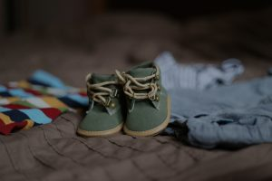 A pair of baby shoes from Mommamakes
