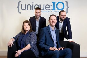 Employees from Unique IQ, a business who received a loan from the Midlands Engine Investment Fund