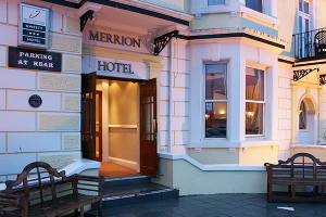 The entrance to the Merrion Hotel