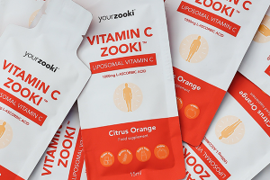 Packets of YourZooki's Vitamin C product