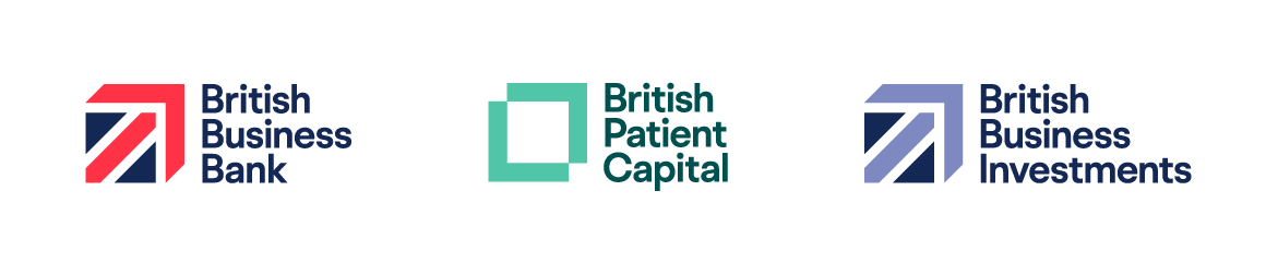 British Business Bank, British Patient Capital and British Business Investment logos