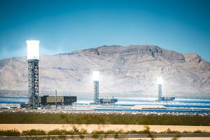 Solar thermal plant in California's Mojave Desert