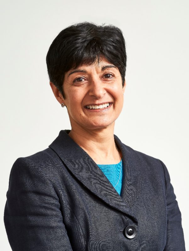 A half-body image of Neeta Atkar, Senior Independent Director and Chair of Risk Committee at BBB