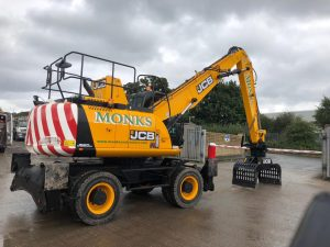 One of Monks Contractors' new JCB wheeled material handlers