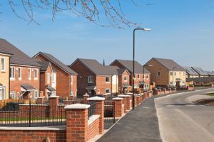 A street of new-build properties