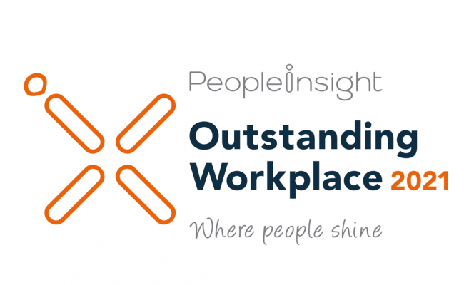 Logo: People Insight, Outstanding Workplace 2021